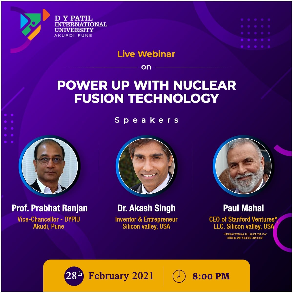 DYPIU : National Science Day discussion on Nuclear Fusion