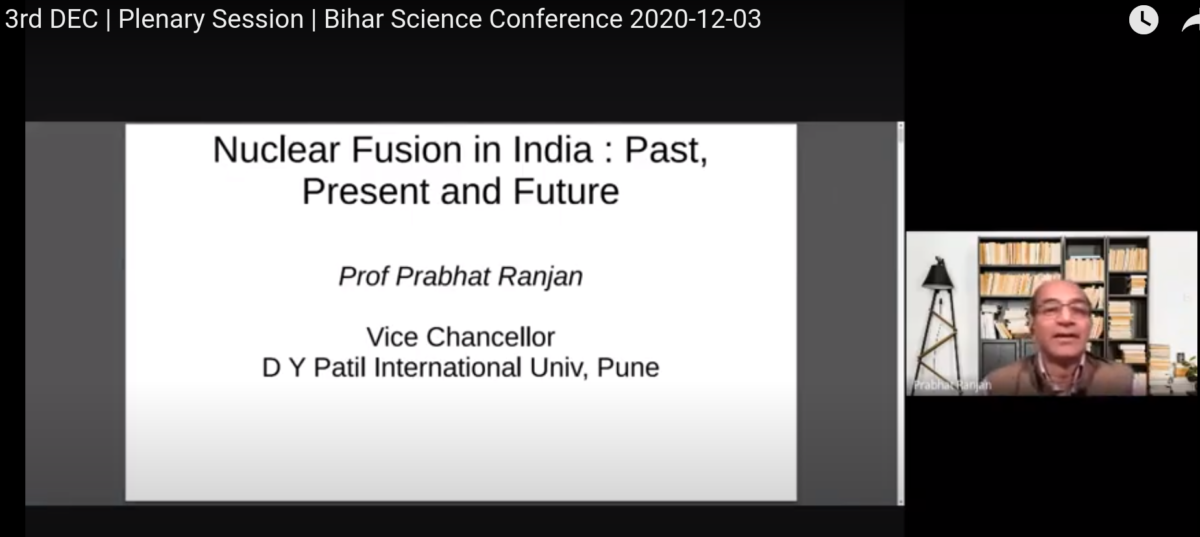 Nuclear Fusion in India : Past, Present and Future
